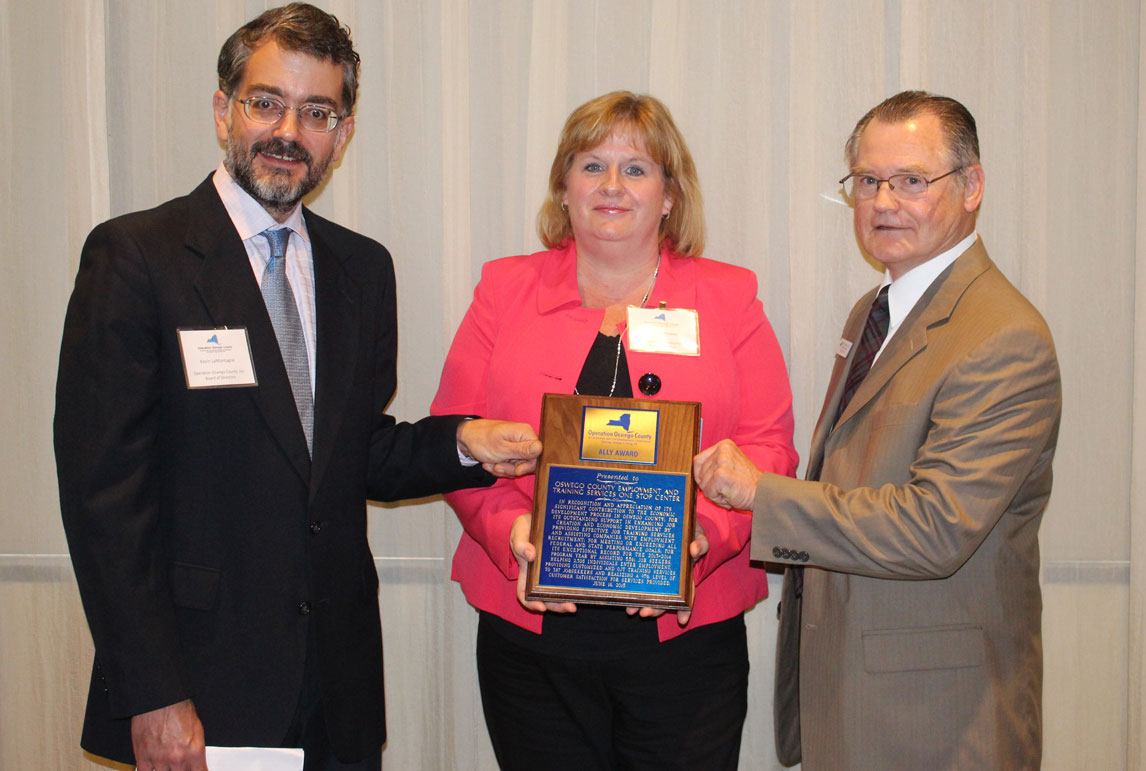 Oswego County Division of Employment and Training — One-Stop Center Receives 2015 Ally Award