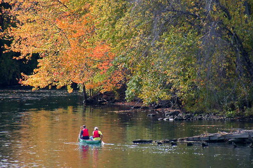 Boaters in Autumn, Oswego County, NY